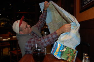 Open the map and start planning the route.