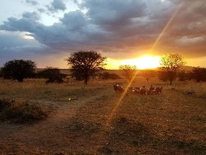 sunset from Ang'Ata camp Tanzania