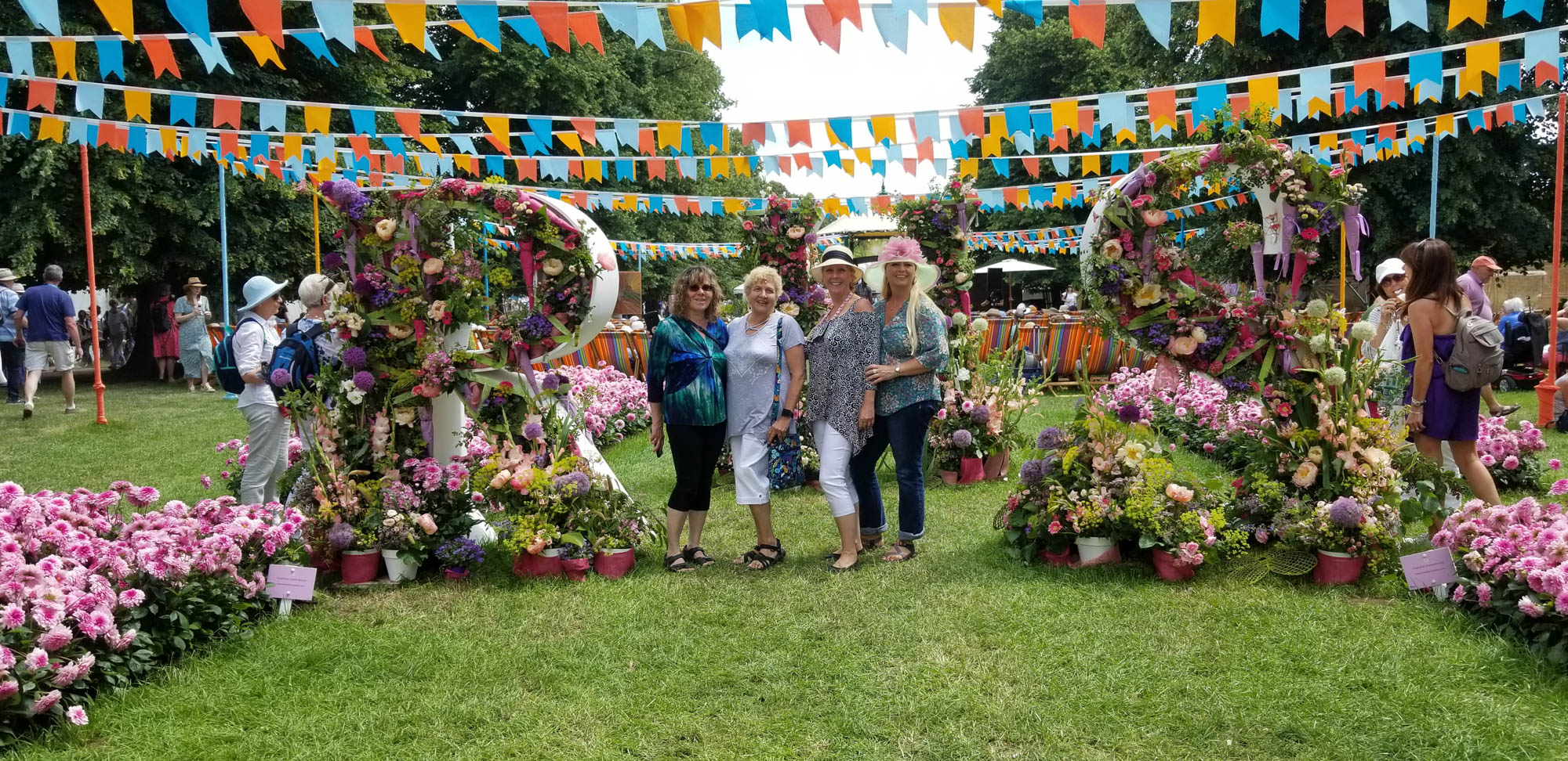 Ladies at the Hampton Court Palace Flower Show