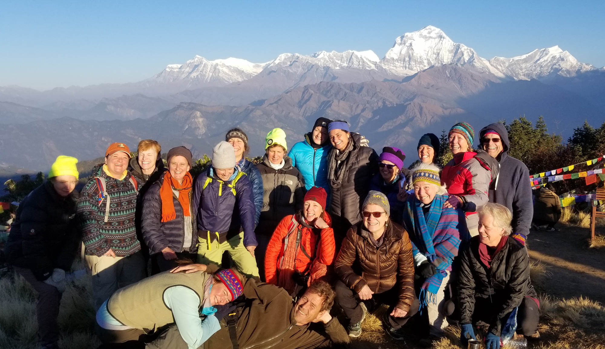 Group on Poon Hill at sunrise