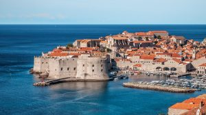 Looking at walled city of Dubrovnik
