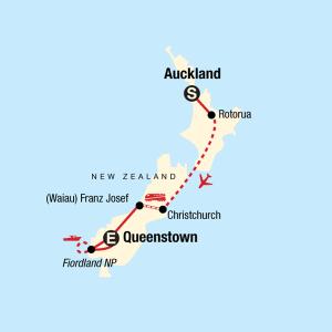 New ZEaland tour map