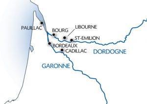 map of croiseeurope wine cruise