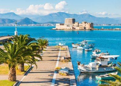 Nafplio greece harbor