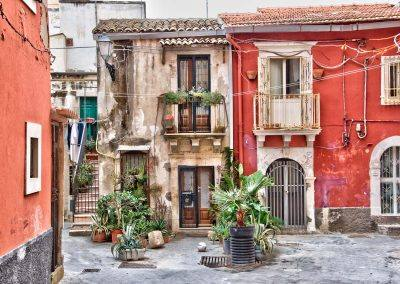 Siracusa Italy buildings in town