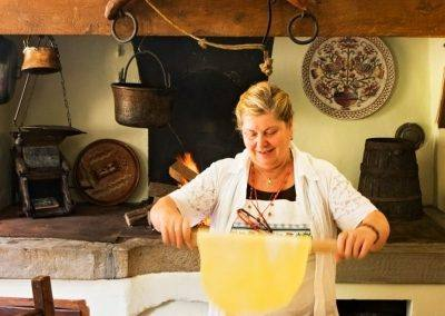 woman cooking in italy